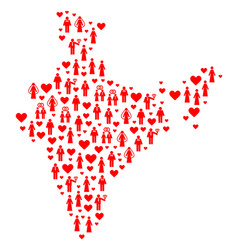 Marriage men collage map of india vector