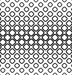 Monochrome seamless pattern from rounded squares vector