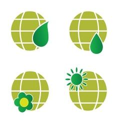 natural green globe icon vector image