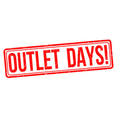 outlet days sign or stamp vector image