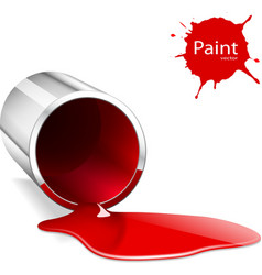 Paint can red vector image
