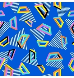 Pattern 80s geometric seamless abstract vector