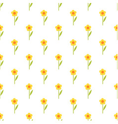 Pattern with yellow flowers vector