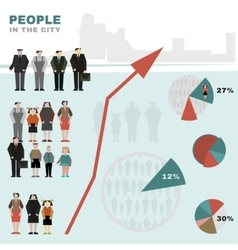 People in the city vector