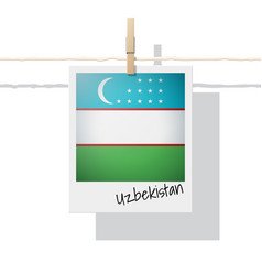 Photo of uzbekistan flag vector