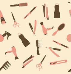 Pink barber shop seamless pattern vector