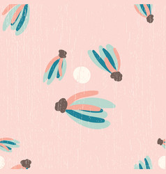 Pink distressed tassels seamless pattern vector