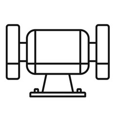 polish miter icon outline style vector image