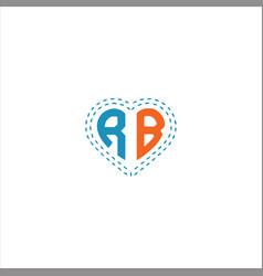 R b letter logo design on black color background vector