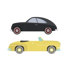 Retro car isolated vector image