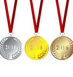 Set of 2016 medals vector image
