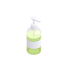 Soap sanitizing liquid composition vector