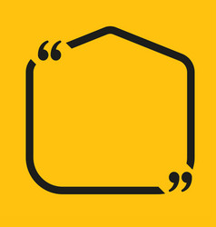speech bubble square empty quote bracket vector image