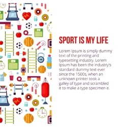 Sport is my life set vector image