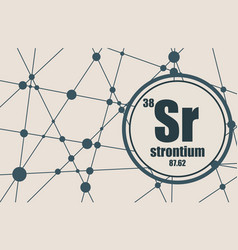 strontium chemical element vector image