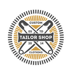 tailor shop vintage isolated label vector image
