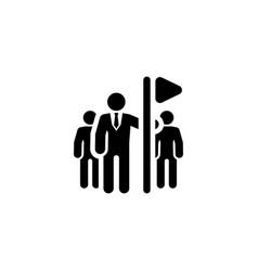 Team leader icon flat design vector
