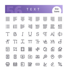 Text line icons set vector