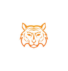 tiger logo template icon design vector image