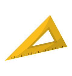 triangle ruler utensil icon vector image