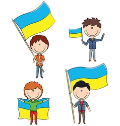 Ukrainian men vector