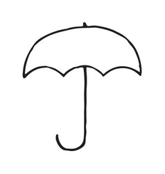 umbrella hand drawn outline doodle icon vector image