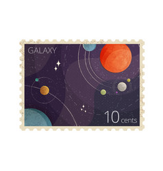 vintage space postage stamp vector image