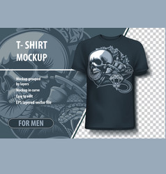 Viper skull and tattoo machines fully editable vector