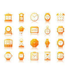 watch simple gradient icons set vector image