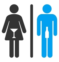 WC Persons Flat Icon vector image