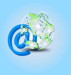 web email email address icon symbol vector image