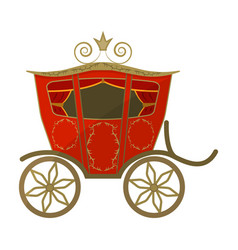 Wedding carriage a carriage for the bride and vector