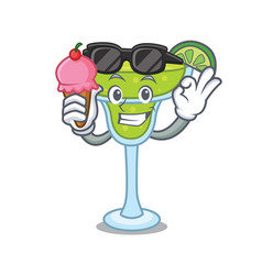with ice cream margarita character cartoon style vector image