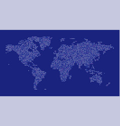 World map dot on blue background vector