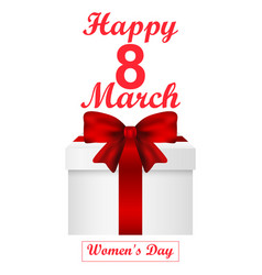 card for women s day vector image vector image