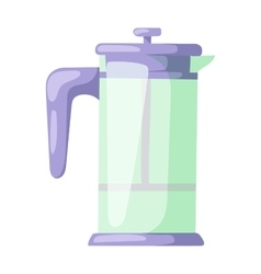 French press for making coffee and tea kitchenware vector image