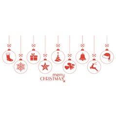Red Christmas ornaments vector image vector image