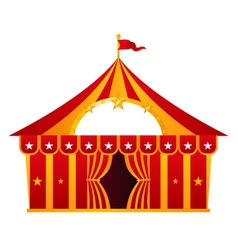 Red circus tent isolated on white vector image
