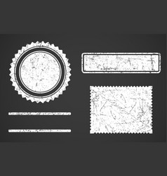 set of white grunge stamps template different vector image vector image