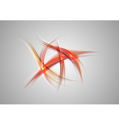 abstract shapes on grey only red vector image