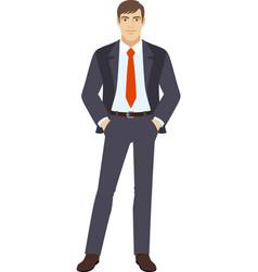 Businessman standing vector image vector image