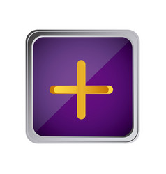 button volume plus with background purple vector image
