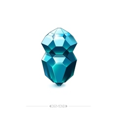 Diamond isolated on white background vector image vector image