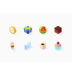 Isometric Social Icons Set vector image vector image