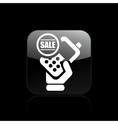 sale phone icon vector image