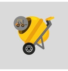 truck mixer concrete icon graphic vector image vector image
