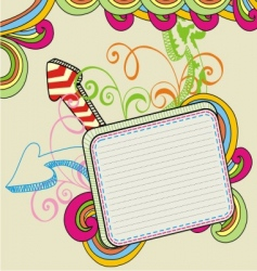 banner doodle vector image vector image