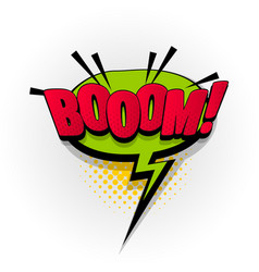 boom bang wow comic book text pop art vector image