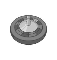 Casino roulette icon black monochrome style vector image vector image