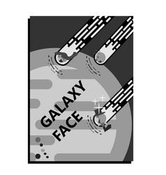 corporatedesign facegalaxy retro vector image vector image